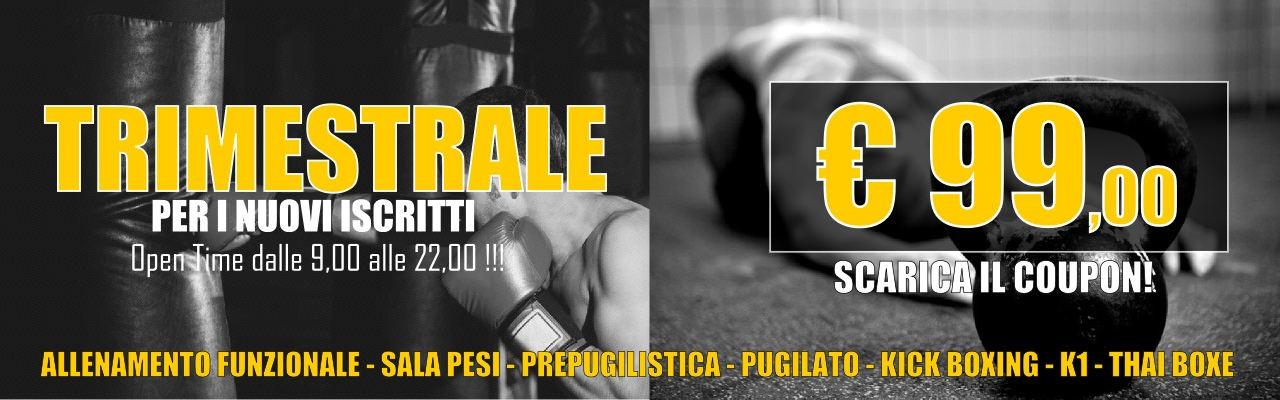 Palestra Gladiators – Promo Trimestrale a 99 euro!