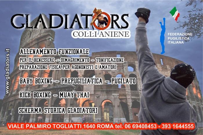 gladiators pugilato roma colle aniene palestra